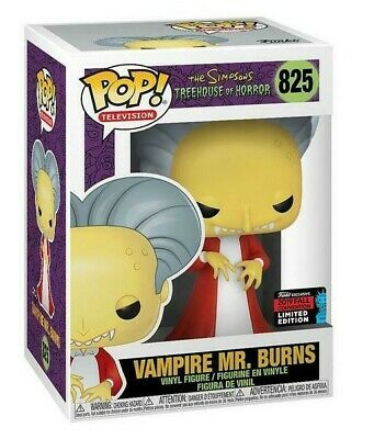 Burns Vampire Mr POP NYCC 2019 US Exclusive Pop Vinyl The Simpsons