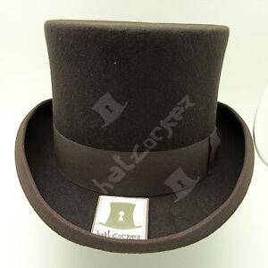 VINTAGE Wool Felt Gentlemen Tuxedo Men Top Hat Topper Victorian   59cm   Olive