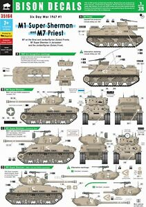 Bison-Decals-1-35-6-Day-War-1-M1-Super-Sherman-M7-Priest-35164