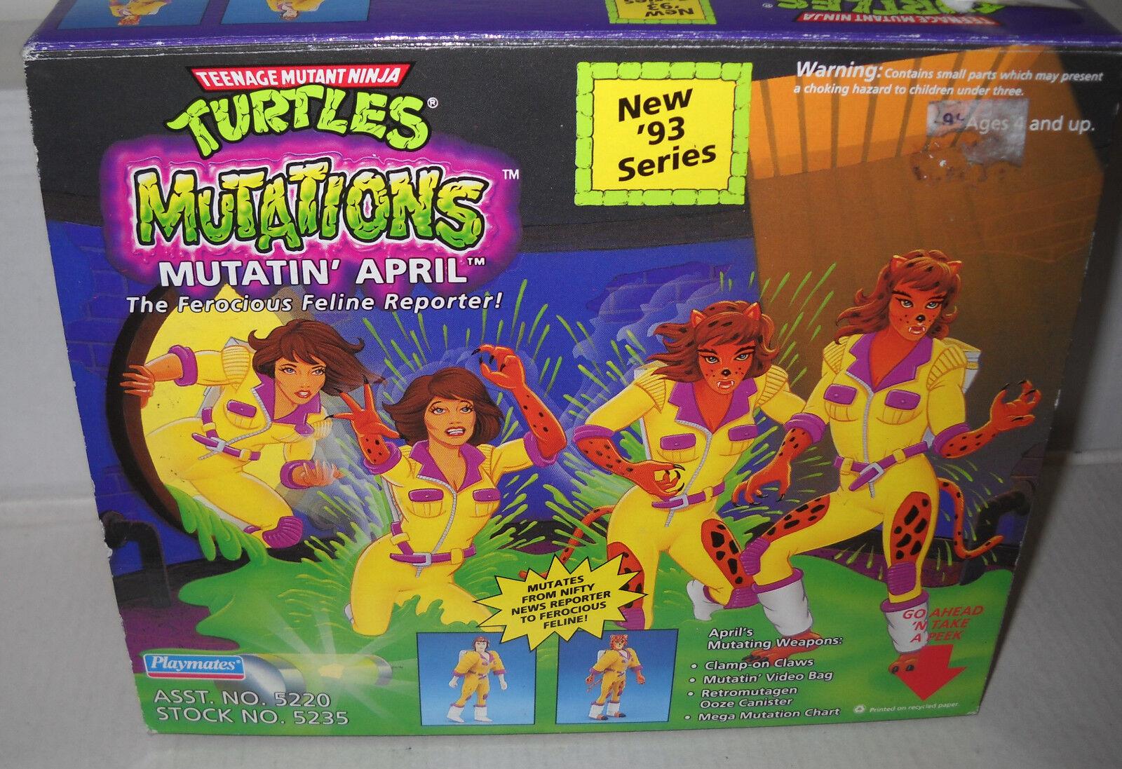 7376 NRFB Vintage Playmates Teenage Mutant Ninja Turtles Mutatin' April Figure