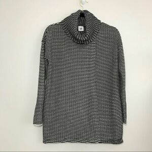 CAbi #3167 Fergie Split Turtleneck Striped Sweater Sz S