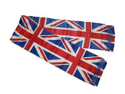 Attento Uk Regno Unito British Inghilterra Stampa Maglia Stile Sciarpa 16.5cmx154cm Rinfrescante E Arricchente La Saliva