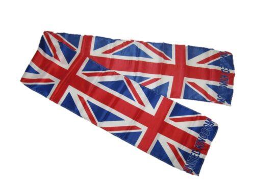 "UK United Kingdom British England Printed Knitted Style Scarf 6.5/""x60.5/"""