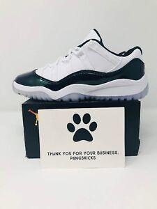 ebc5a73184e6f8 Nike Air Jordan 11 Retro Low  Emerald  505835-145 PS Size 12.5c-1.5Y ...