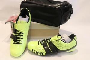 Nouveau-Giro-Factor-Techlace-road-bike-shoes-42-9-EC90-Carbon-Boa-jaune-noir-homme