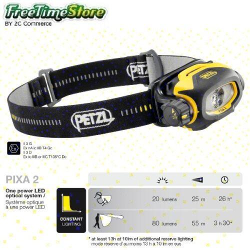 PETZL PIXA 1 2 3 3R Lampada Frontale ATEX Pixadapt Headlamps torcia da lavoro
