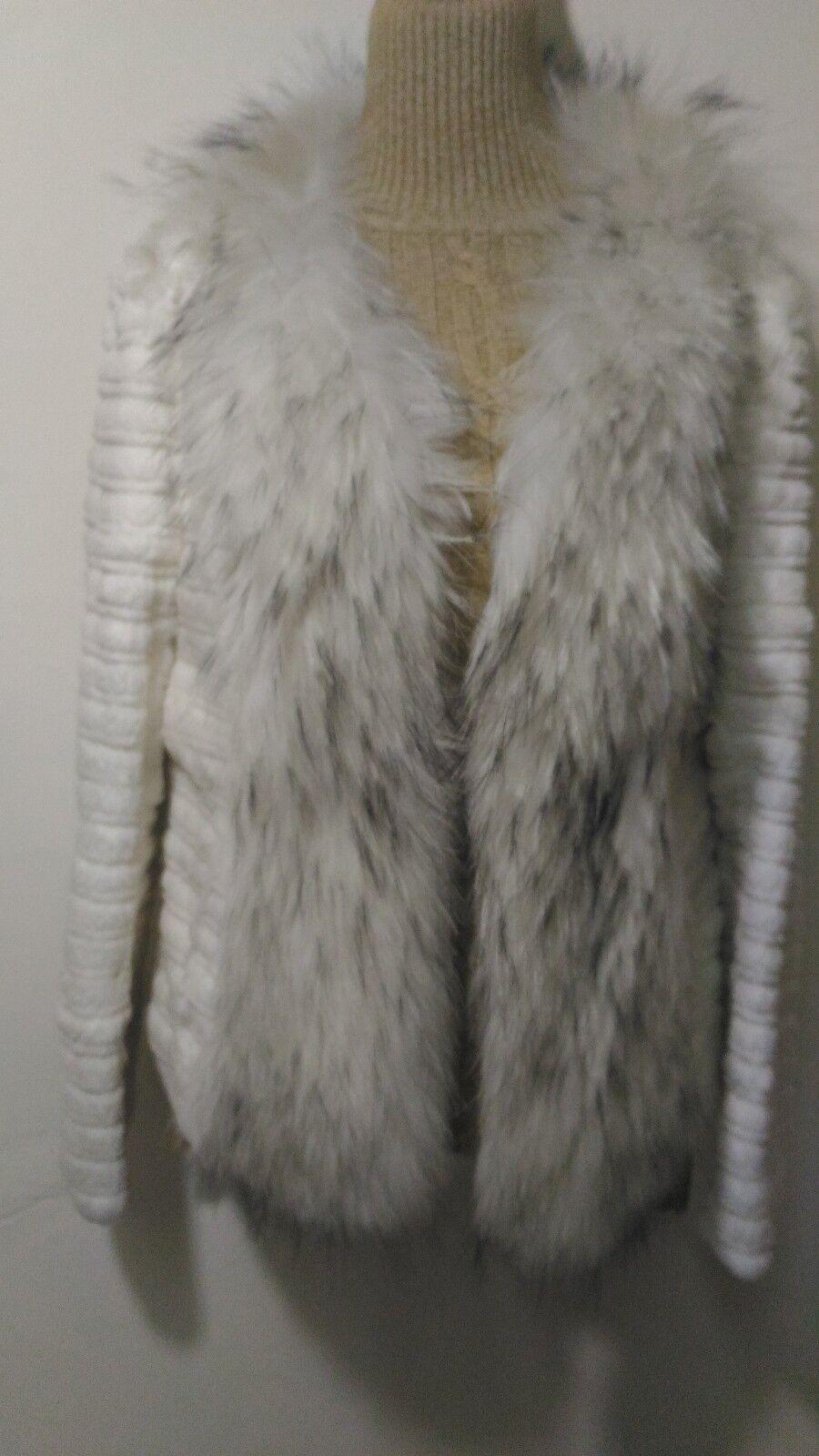 B11new design 100% real white rabbit , coyote fox fur coat