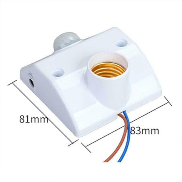 E27 Infrared Motion PIR Sensor Automatic Alarm LED Light Holder Lamp E4T8