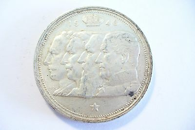 Zwierig Monnaie Belgique Argent Légende Flamande 100 Frs 1948 / 18 Gr. !!