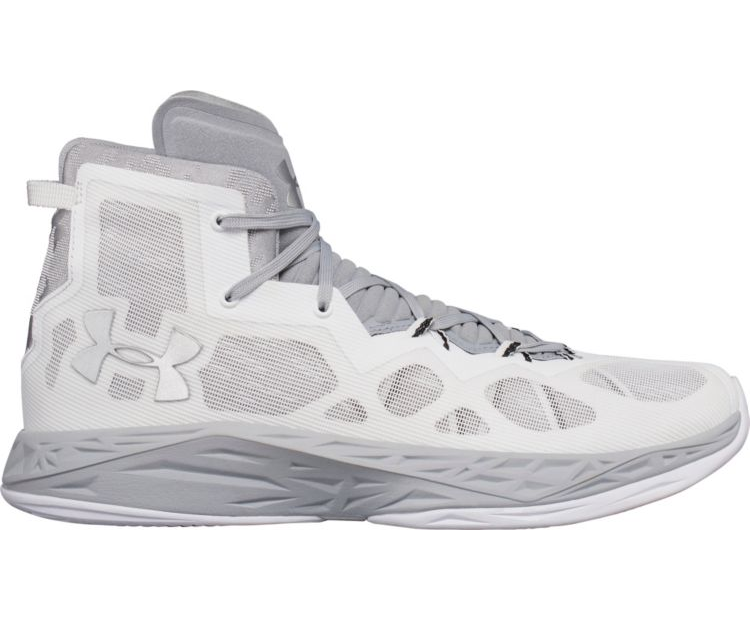 Under Armour UA Lightning 4hommes's Basketball blanc/ Gris1301667-103