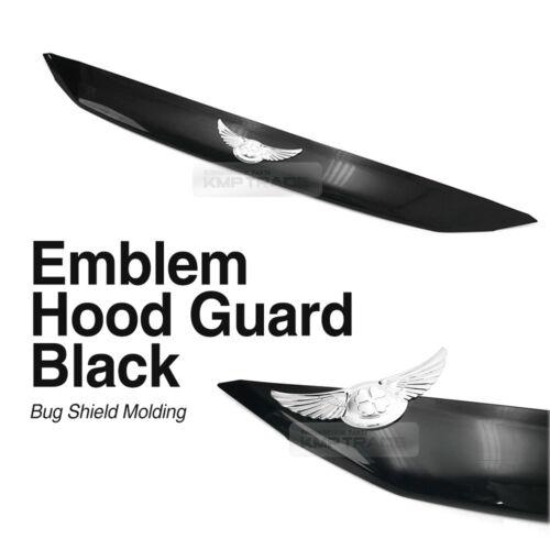 Avante AD Emblem Hood Guard Bug Shield Molding Black D989 For 2017-18 Elantra