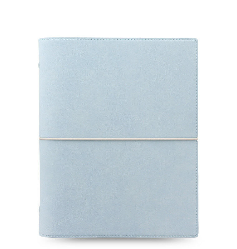 Filofax - A5 Domino Weich Blass Blau- With 2018 Diary Insert | Up-to-date Styling