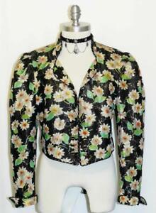 Allemagne ~ Dress Soie Straber Femmes Short Fleurs de 741587285618 Costume l'Ouest Black Veste M 40 10 xSqCIwp