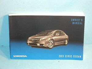 11 2011 honda civic sedan owners manual ebay rh ebay com honda civic si 2011 owners manual honda civic 2012 owners manual pdf