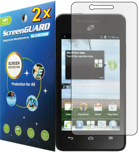 2x Clear LCD Screen Protector Guard Cover Film for Huawei Ascend Plus H881C