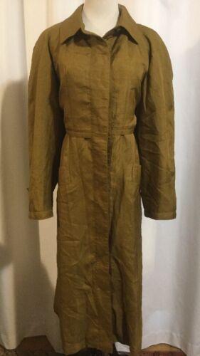 Removable Liner Ull Gold 12 Women's Charles Trenchcoat Overcoat Klein Vintage wv0qgg