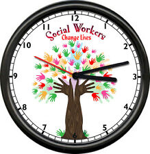 Social Worker Therapist Counselor Therapy Personalized Or Plain Sign Wall Clock