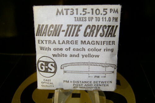 GS Magni-Tite Date Window Crystals With Tension Rings 30.0-32.5 mm