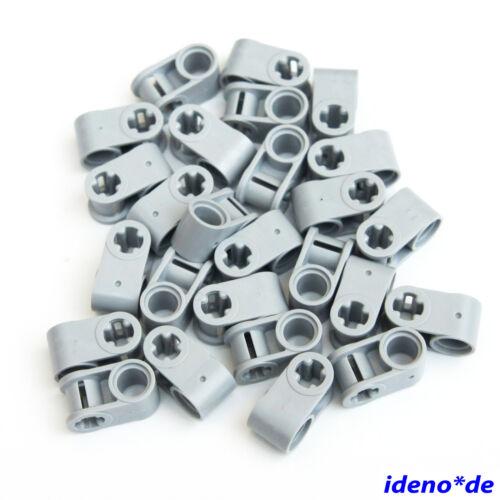 Lego Technik 20.Stk 2fach Verbinder Kreuz Pin Loch 6536 neu hellgrau 4211775 Neu