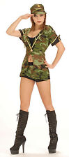 Army Camouflage Soldier With Hat Dress Shorts Fancy Dress Costume P7593