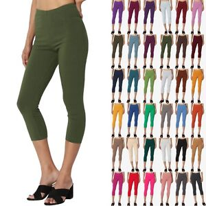 TheMogan-Basic-Cotton-Jersey-Elastic-High-Waist-Mid-Calf-Length-Capri-Leggings