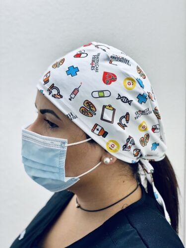 Heroes Doctor Nurse Medical Surgical Cap Scrub Cap unisex RN HERO made in USA