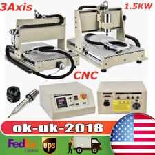 New Listing3 Axis Cnc 6040 Router Engraver Machine Drill Woodwork Cutting 15kw Vfd