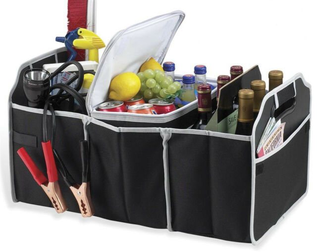 Trunk Organizer - Portable Collapsible Folding Caddy Storage For Car SUV Truck