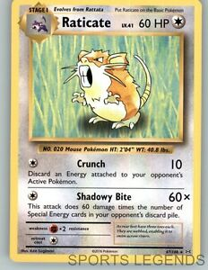 2016 pokemon Evolutions rare Raticate 67//108