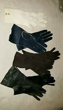 Lot four pair vintage Estate Gloves One Unworn NOS