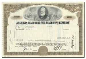 Lot of 5 American District Telegraph Company (ADT) Stock