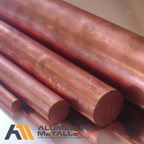 Kupfer rund Ø 70mm Länge wählbar  E-Cu 57 CW 004 A Rundstange E-Kupfer Stab