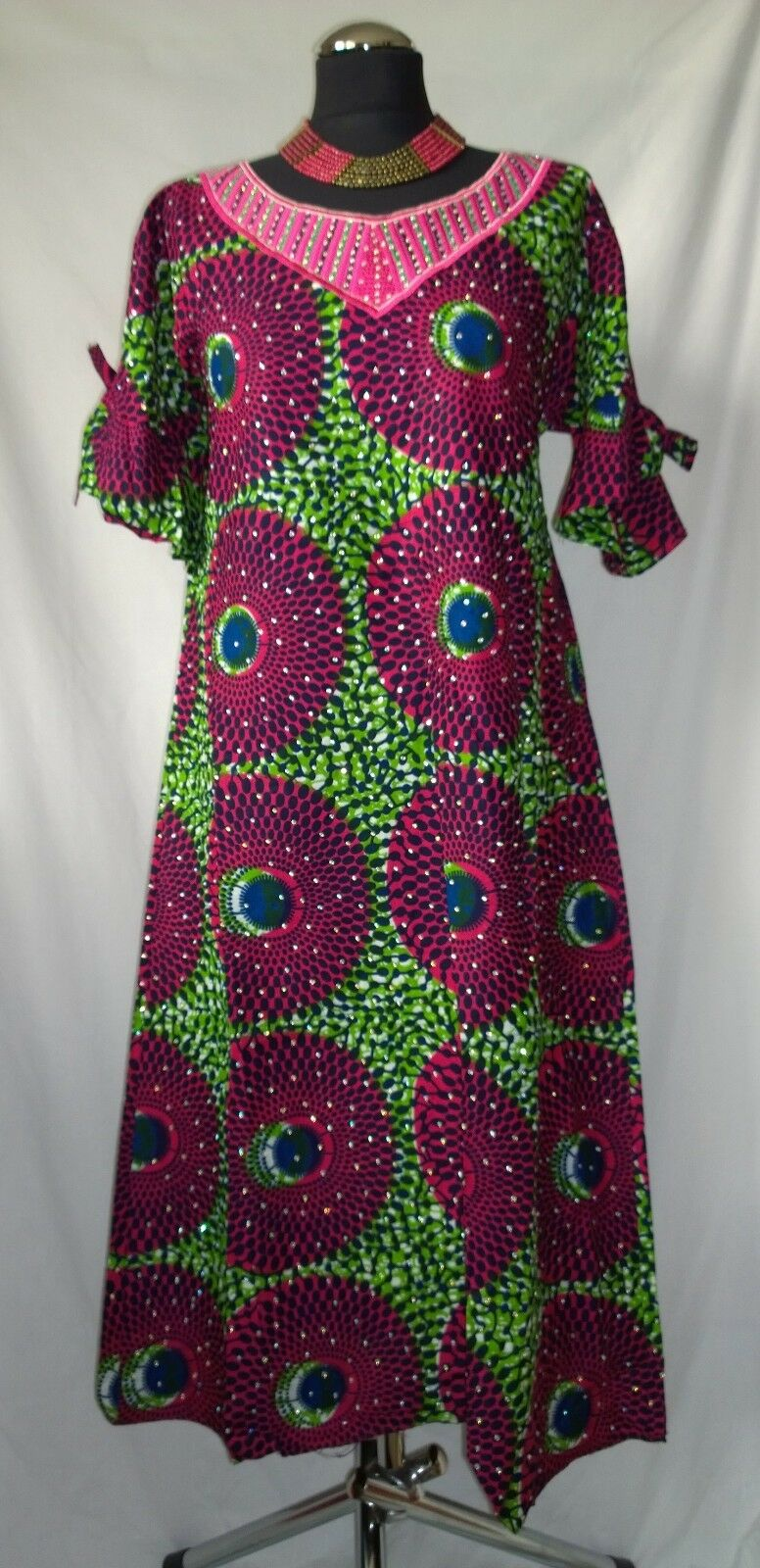 Gorgeous Traditional African A-line Dress - size ( B6)