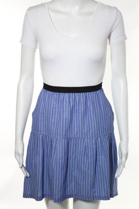 Sea New York bluee Cotton Striped Skirt Size 4 New 86433