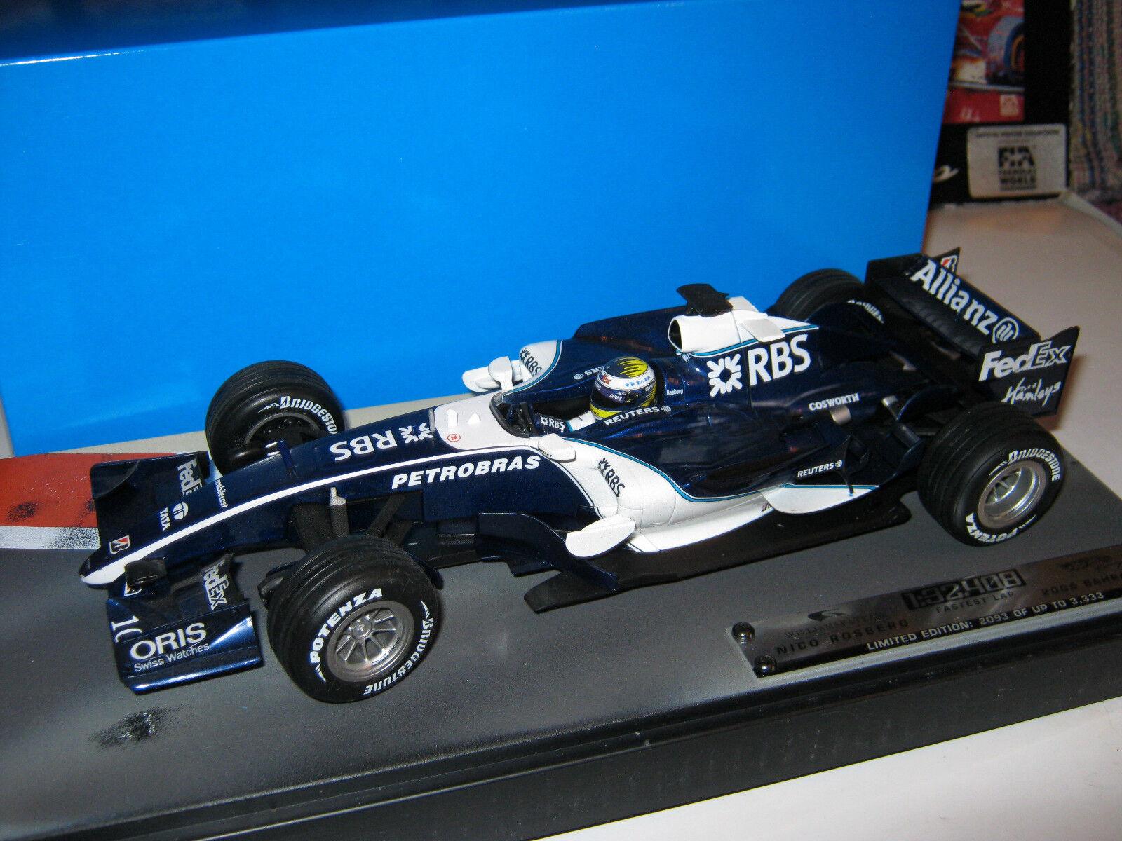 1:18 Williams Cosworth fw28 N. Rosberg 2006 SAKHIR Bahrein GP j2988 OVP NEW