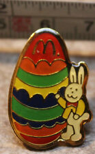McDonalds Easter Bunny with Giant Egg Employee Collectible Pinback Pin Button
