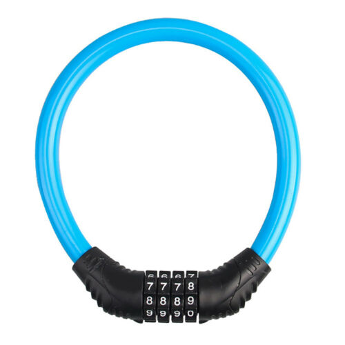 CW/_ 4 Digital Combination Password Cycling Security Bicycle Bike Cable Chain Loc