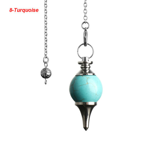 Cone Gemstone Rock Amulet Healing Crystal Natural Stone Reiki Pendulum Pendant
