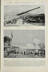 1897-PRINT-SHIFTING-10-inch-BREECH-LOADER-PRATICE-FROM-BATTERY-FIRING