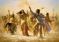 """Howard Terpning    """"Hope Springs Eternal -The Goast Dance""""  MAKE  OFFER   WG DSS"""