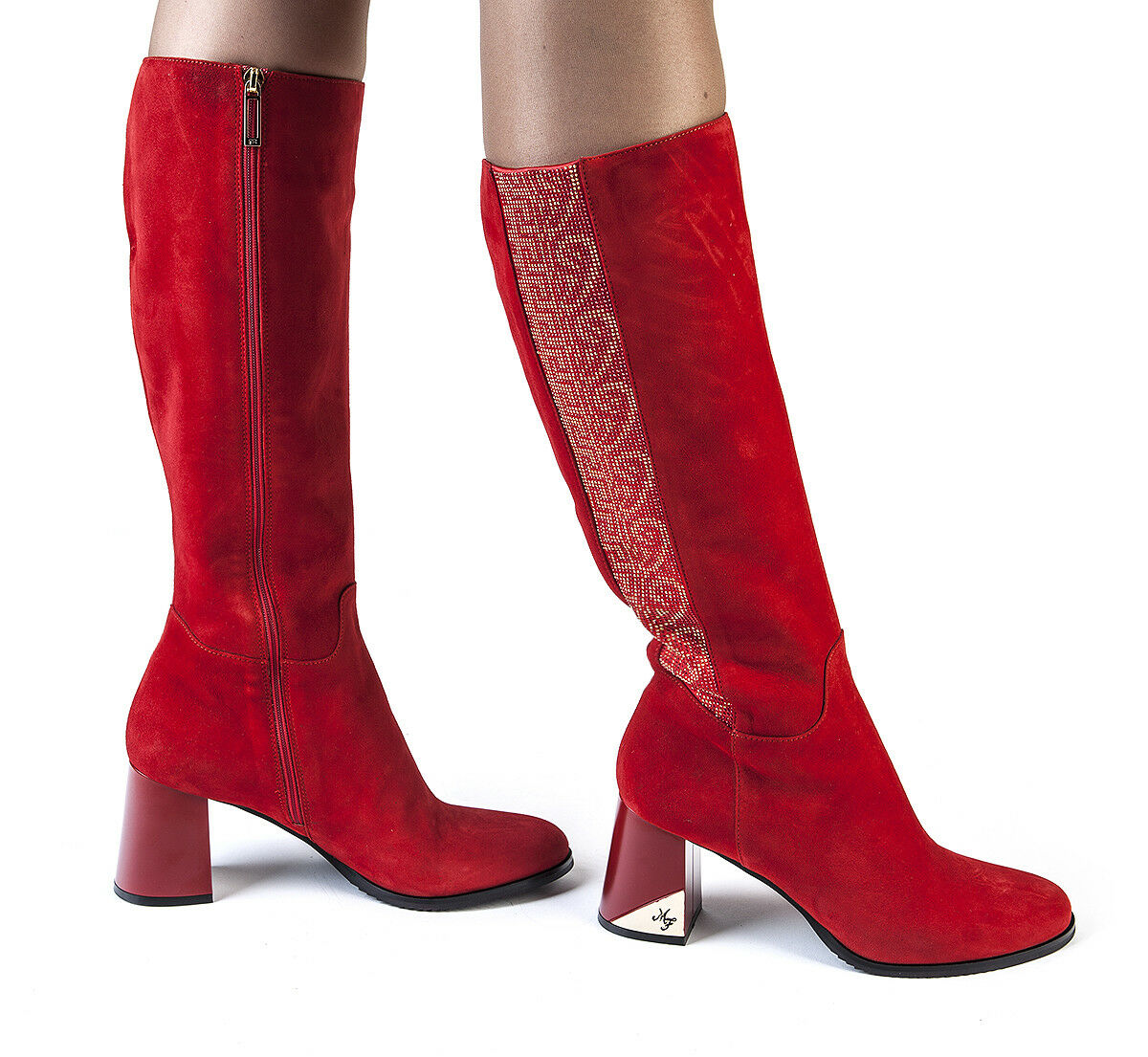 Authentic Marino Fabiani Italian Designer Boots Sizes 5,7,8,9,10 New Red