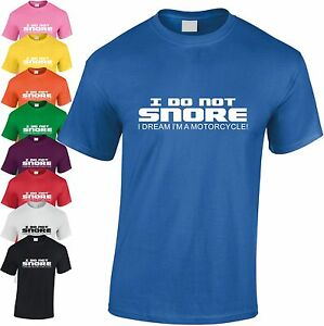 I-Do-Pas-Snore-Dream-I-039-M-A-Moto-Enfants-T-Shirt-Drole-Ado-T-Shirt-Cadeau