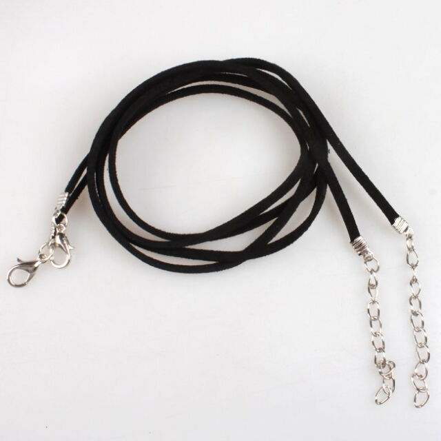 10pcs 130117 New Wholesale Black Korean Velvet Necklace Cords Findings 51cm
