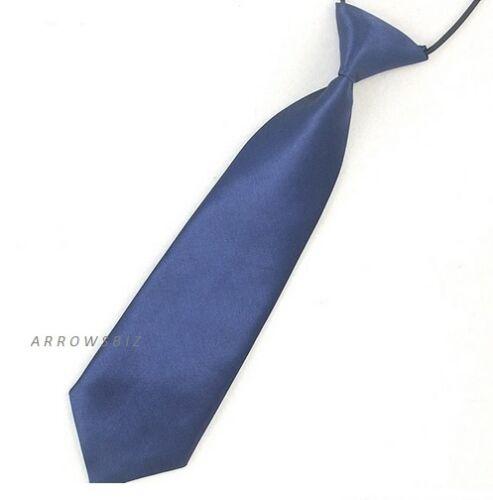 Boys School Kids Pre-tied Satin de Soie Élastique Mariage Bal Liens Cravate UK Vendeur