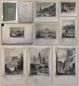 Salzburg-und-seine-Umgebung-mit-24-Stichen-nach-Poppel-amp-Kurz-um-1850-Osterreich