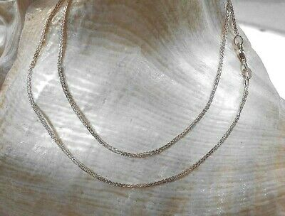"14K 18/"" Inch 1.1mm Solid White Gold Diamond Cut Sparkle Necklace Chain"