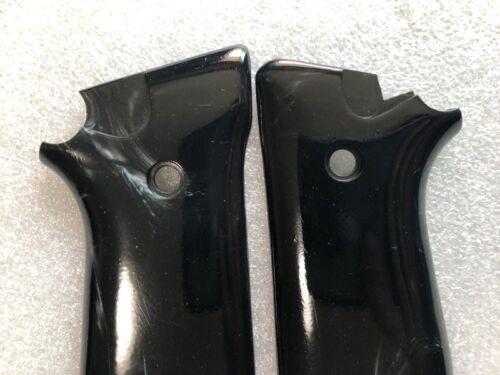 Nuevo Taurus PT 92 99,100,101 decocker apretones de color negro liso Resina Hecho a Mano
