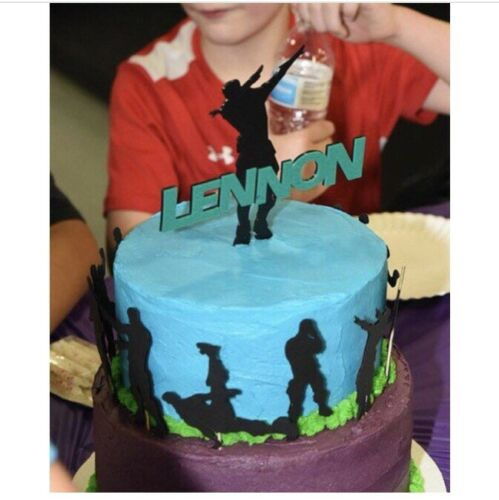 Dab Silhouette Fortnite Celebration Custom Cake Topper