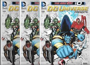 LOT OF 3 DC UNIVERSE PRESENTS THE NEW 52 #0 (NM) HAWK & DOVE, DEADMAN