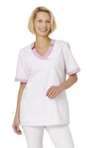 Leiber 08/2654 Damen Schlupfjacke Schwesternkleidung Kasack Medizin 1/2-arm Weiß Exzellente QualitäT Business & Industrie Ärzte- & Schwesternkleidung
